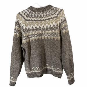 PERSUASIONS Mens Gray Fair Isle Pattern Sweater M